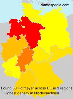 Surname Hofmeyer in Germany