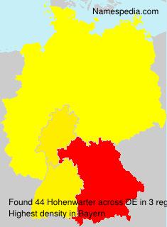 Familiennamen Hohenwarter - Germany