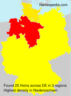 Surname Hoins in Germany
