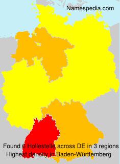 Familiennamen Hollestelle - Germany