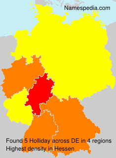 Surname Holliday in Germany