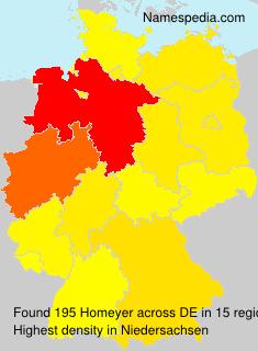 Familiennamen Homeyer - Germany