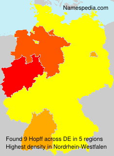 Surname Hopff in Germany