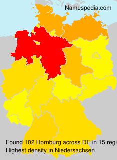 Surname Hornburg in Germany
