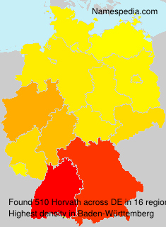 Surname Horvath in Germany