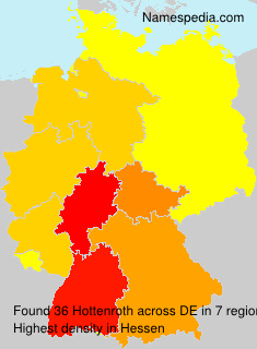 Surname Hottenroth in Germany