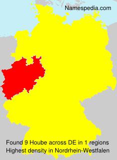 Familiennamen Hoube - Germany