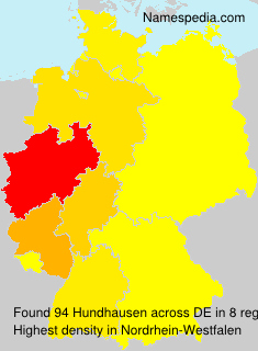 Surname Hundhausen in Germany