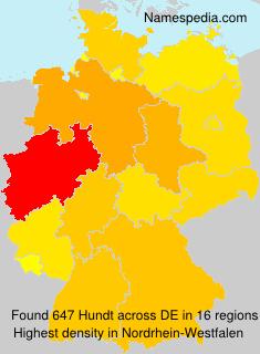 Surname Hundt in Germany