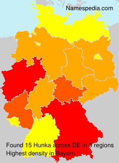Surname Hunka in Germany