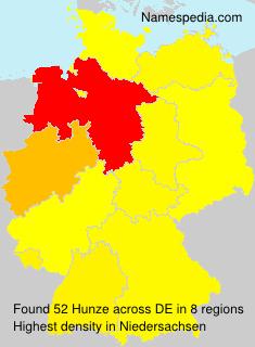 Familiennamen Hunze - Germany