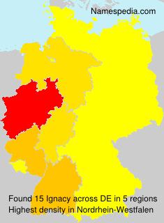 Surname Ignacy in Germany