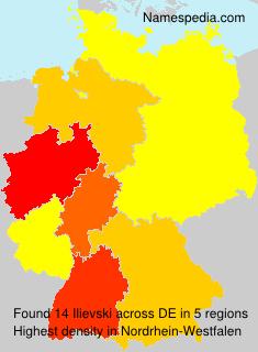Surname Ilievski in Germany