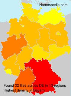 Familiennamen Illes - Germany