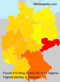 Familiennamen Illing - Germany