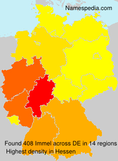Surname Immel in Germany