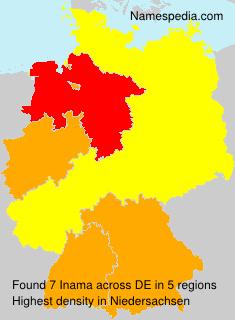 Familiennamen Inama - Germany
