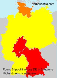 Surname Ippoliti in Germany