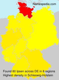 Familiennamen Ipsen - Germany