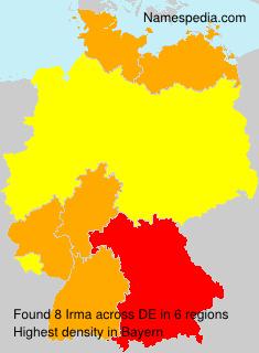 Familiennamen Irma - Germany