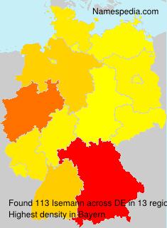 Surname Isemann in Germany