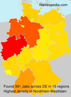 Familiennamen Jabs - Germany
