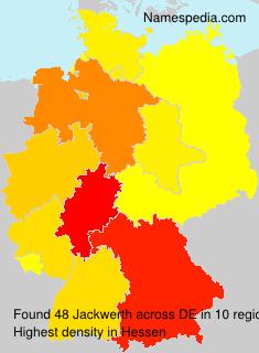 Surname Jackwerth in Germany