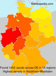 Surname Jacobi in Germany