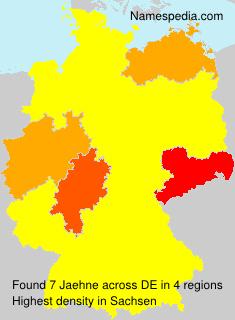Familiennamen Jaehne - Germany