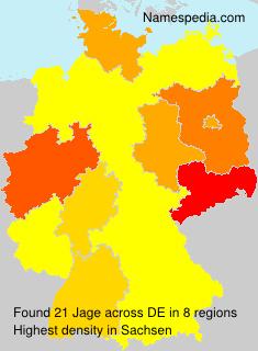Surname Jage in Germany