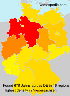 Surname Jahns in Germany