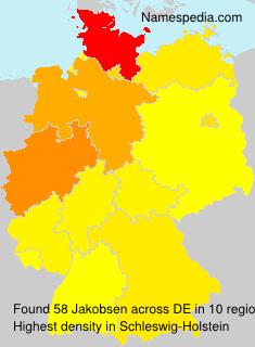 Surname Jakobsen in Germany