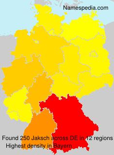 Familiennamen Jaksch - Germany