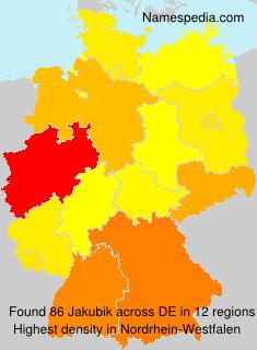 Surname Jakubik in Germany