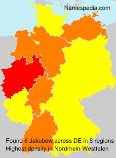 Surname Jakubow in Germany