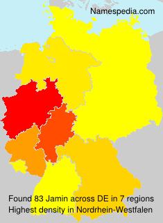 Surname Jamin in Germany