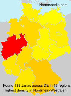 Surname Janas in Germany