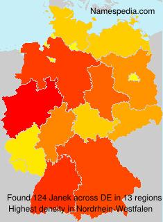 Surname Janek in Germany