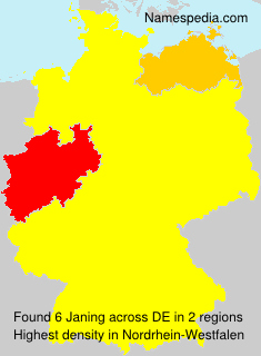 Surname Janing in Germany
