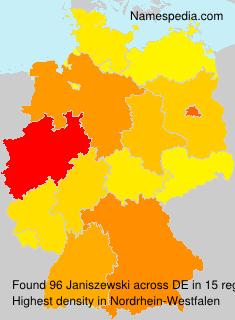 Surname Janiszewski in Germany