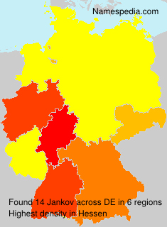 Familiennamen Jankov - Germany