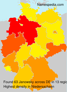 Surname Janowsky in Germany