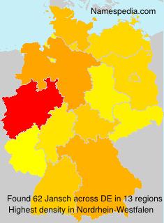 Familiennamen Jansch - Germany
