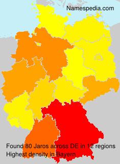 Surname Jaros in Germany
