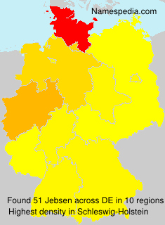 Surname Jebsen in Germany