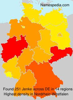 Surname Jenke in Germany