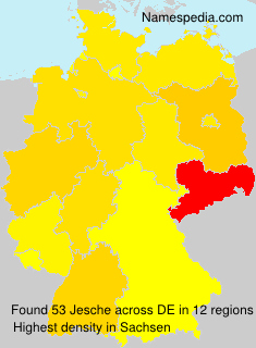 Surname Jesche in Germany