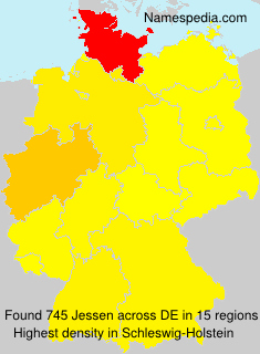 Surname Jessen in Germany