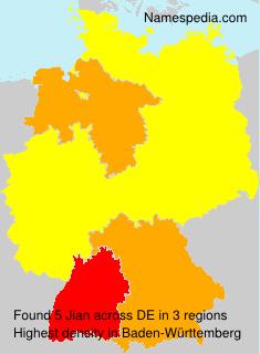 Familiennamen Jian - Germany