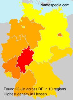 Surname Jin in Germany